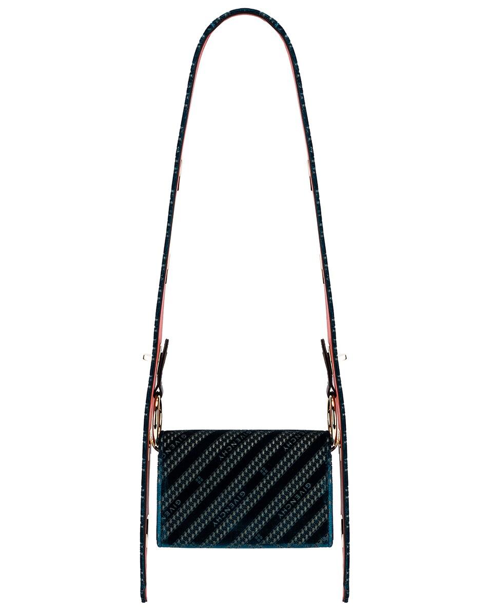 Image 4 of Givenchy Nano Eden Lasered Velvet Bag in Oil Blue
