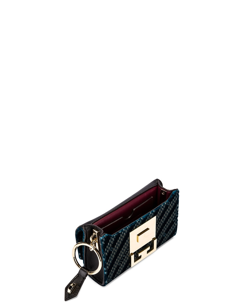 Image 6 of Givenchy Nano Eden Lasered Velvet Bag in Oil Blue