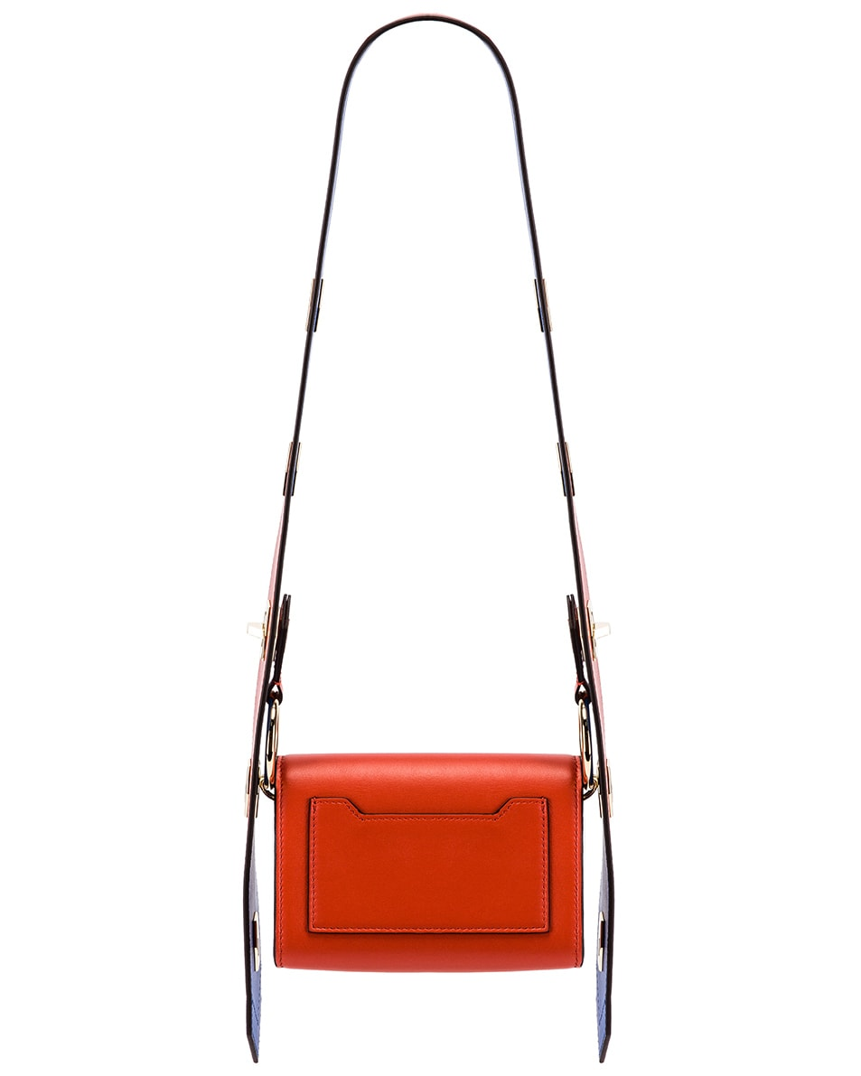 Image 4 of Givenchy Nano Eden Leather Contrasted Details Bag in Dark Orange