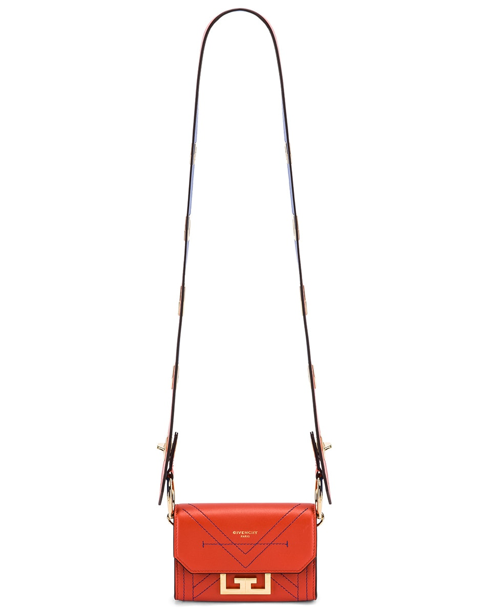 Image 7 of Givenchy Nano Eden Leather Contrasted Details Bag in Dark Orange
