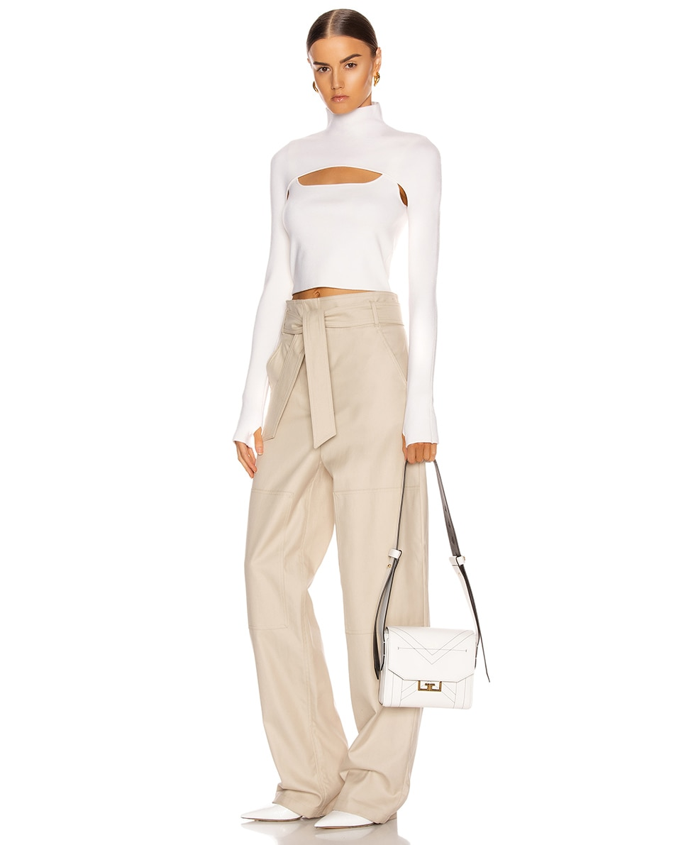 Image 2 of Givenchy Small Eden Leather Contrasted Details Bag in White