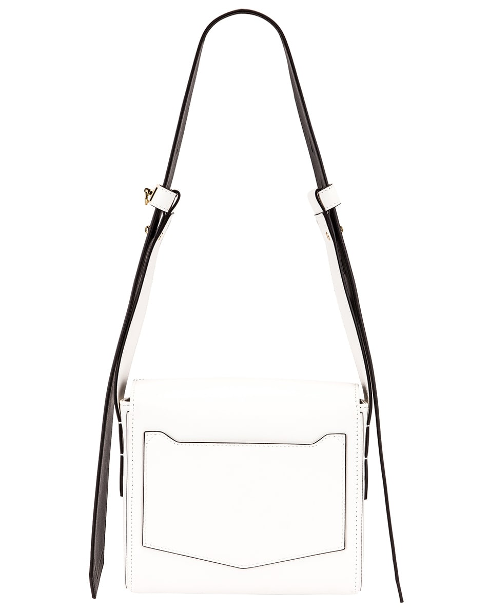 Image 3 of Givenchy Small Eden Leather Contrasted Details Bag in White