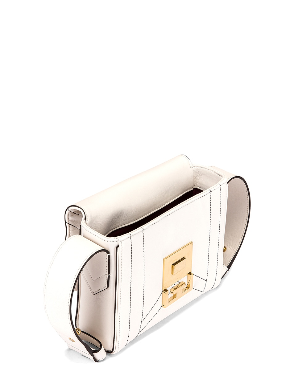 Image 5 of Givenchy Small Eden Leather Contrasted Details Bag in White