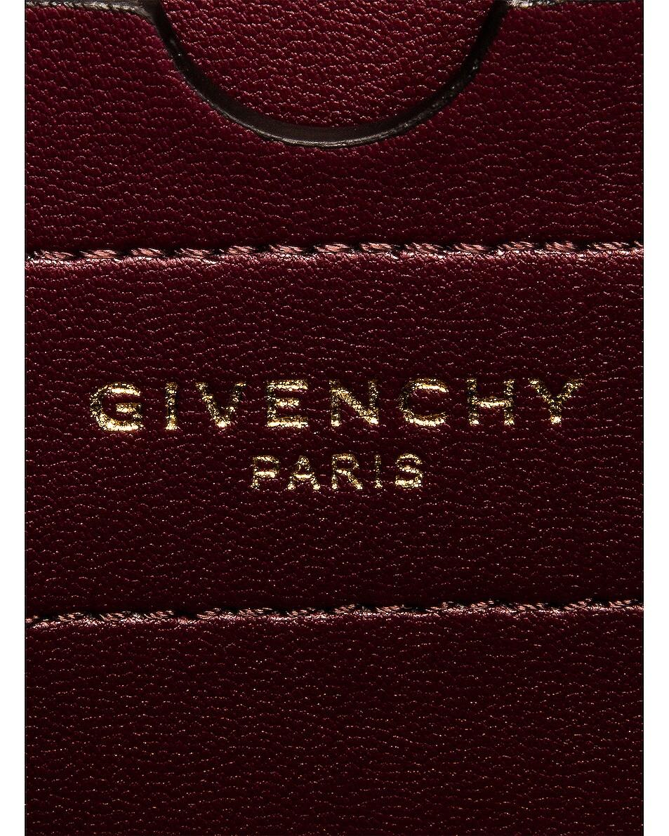 Image 7 of Givenchy Mini Eden Lasered Velvet Bag in Oil Blue