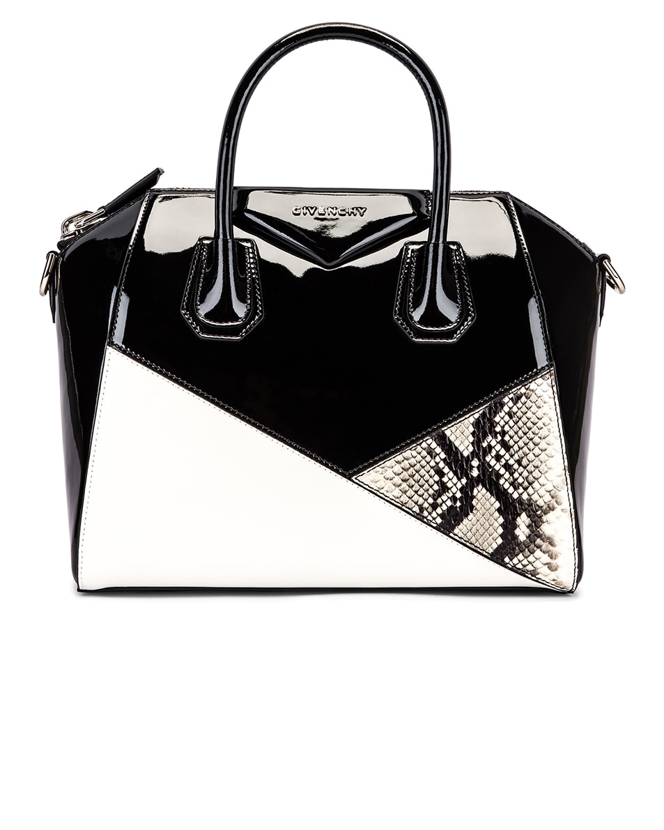 Image 1 of Givenchy Small Mixed Leather Antigona in Black & White
