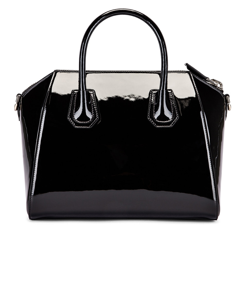 Image 3 of Givenchy Small Mixed Leather Antigona in Black & White
