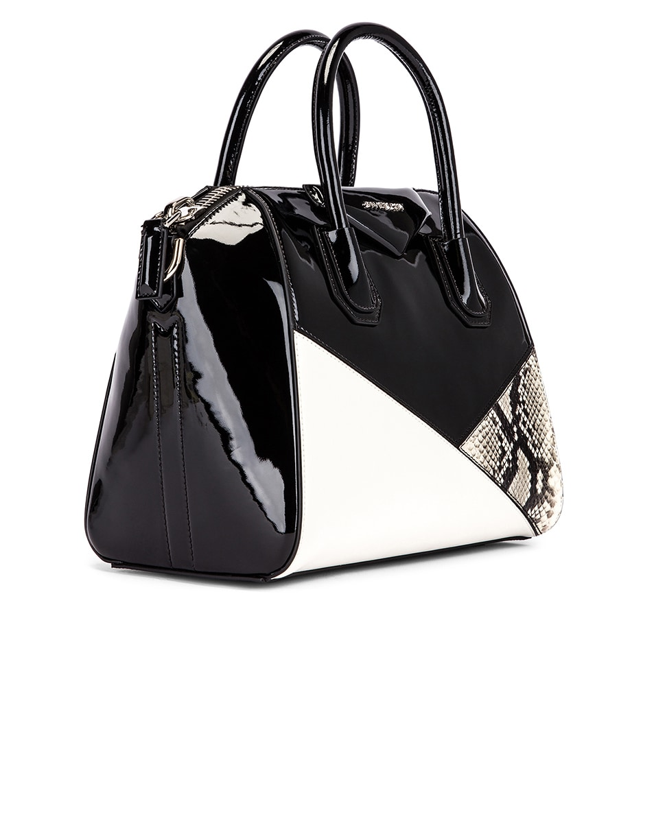Image 4 of Givenchy Small Mixed Leather Antigona in Black & White
