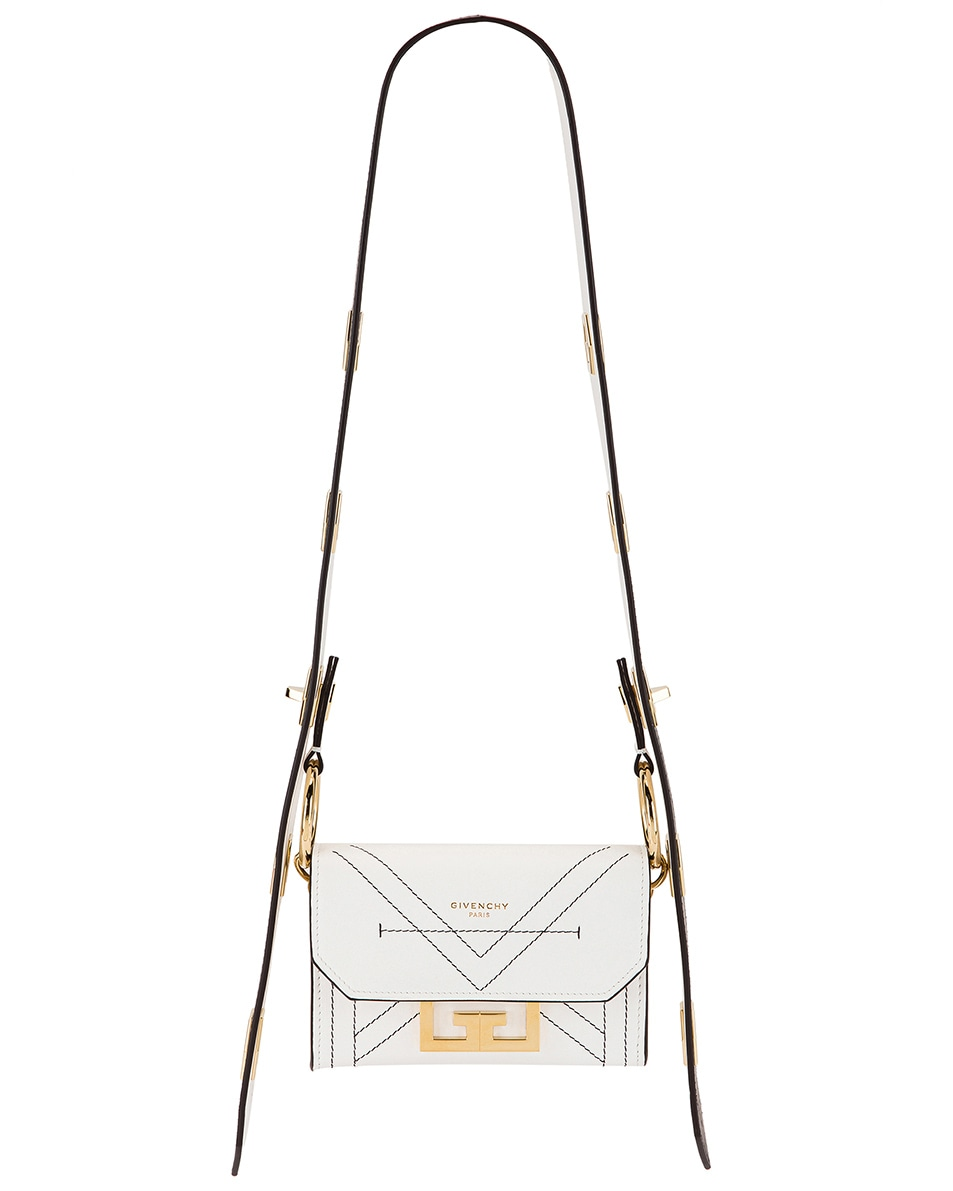 Image 1 of Givenchy Nano Eden Leather Contrasted Details Bag in White