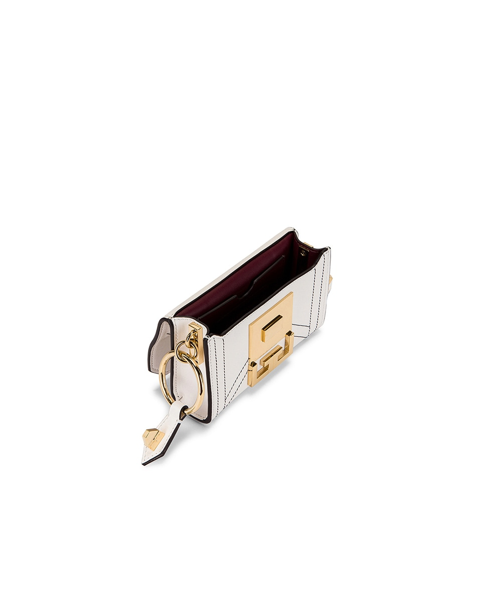 Image 6 of Givenchy Nano Eden Leather Contrasted Details Bag in White