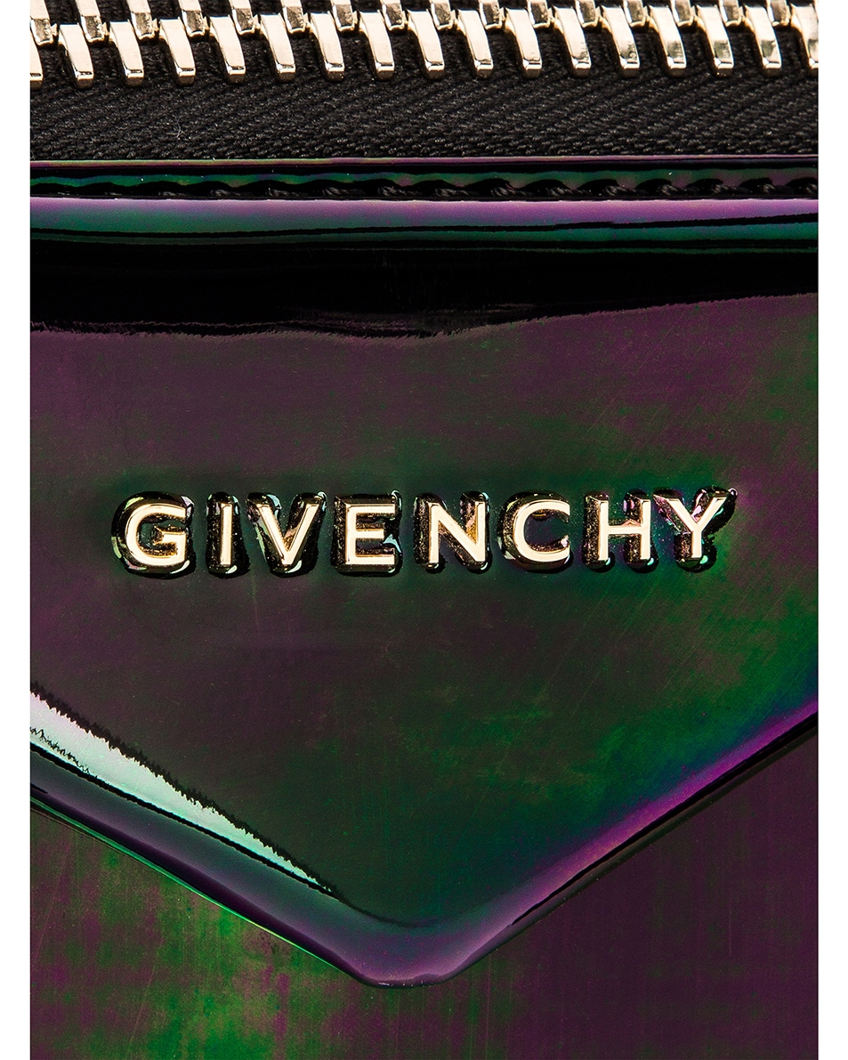 Image 7 of Givenchy Small Antigona Iridescent Leather Bag in Black