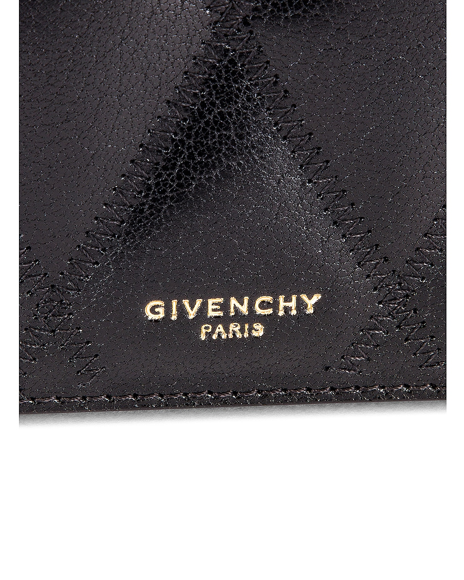 Image 8 of Givenchy GV3 Quilted Leather Strap Wallet Bag in Black