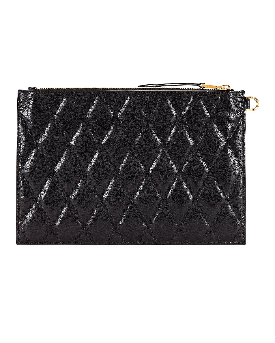 Image 3 of Givenchy Medium GV3 Ring Pouch in Black