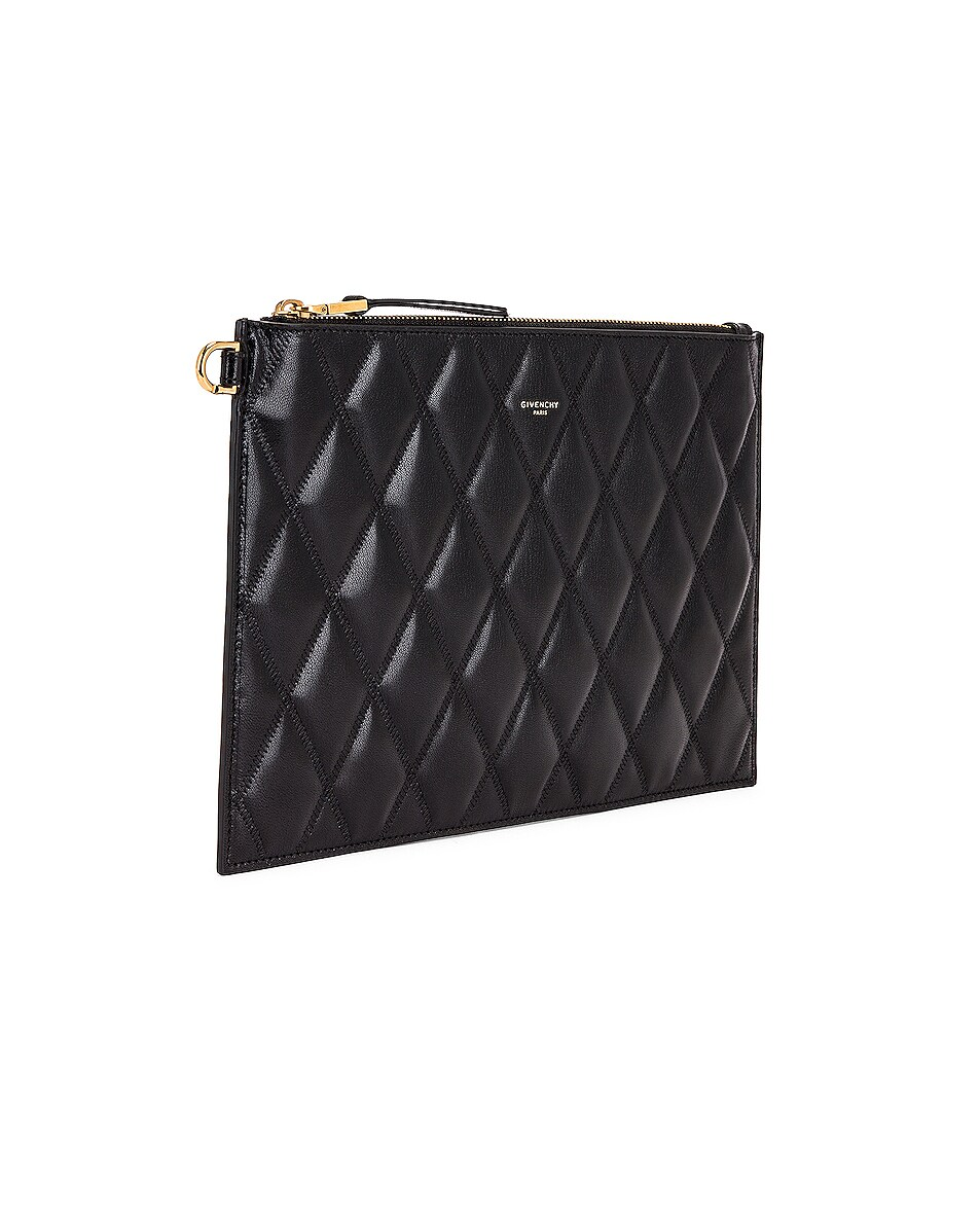 Image 4 of Givenchy Medium GV3 Ring Pouch in Black