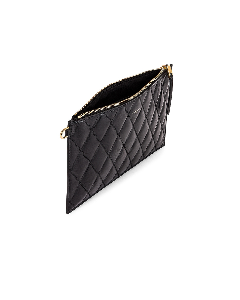 Image 5 of Givenchy Medium GV3 Ring Pouch in Black