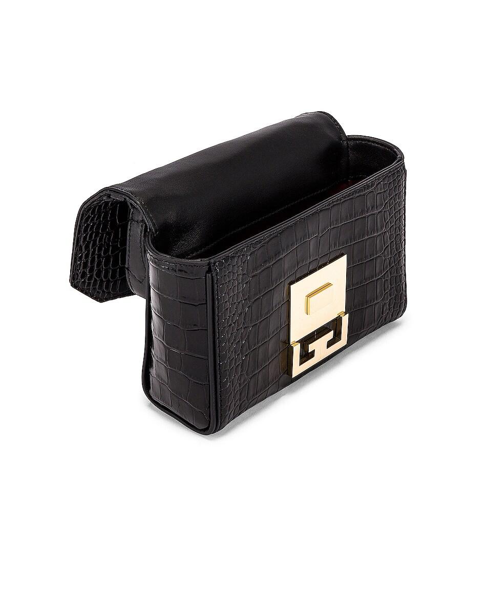 Image 5 of Givenchy Mini Eden Embossed Croc Bag in Black