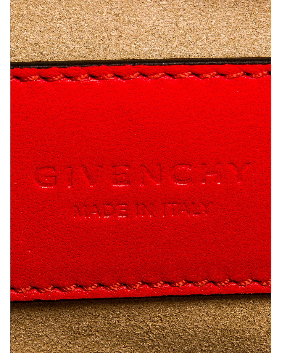 Image 7 of Givenchy Cross 3 Embossed Croc Crossbody Bag in Red