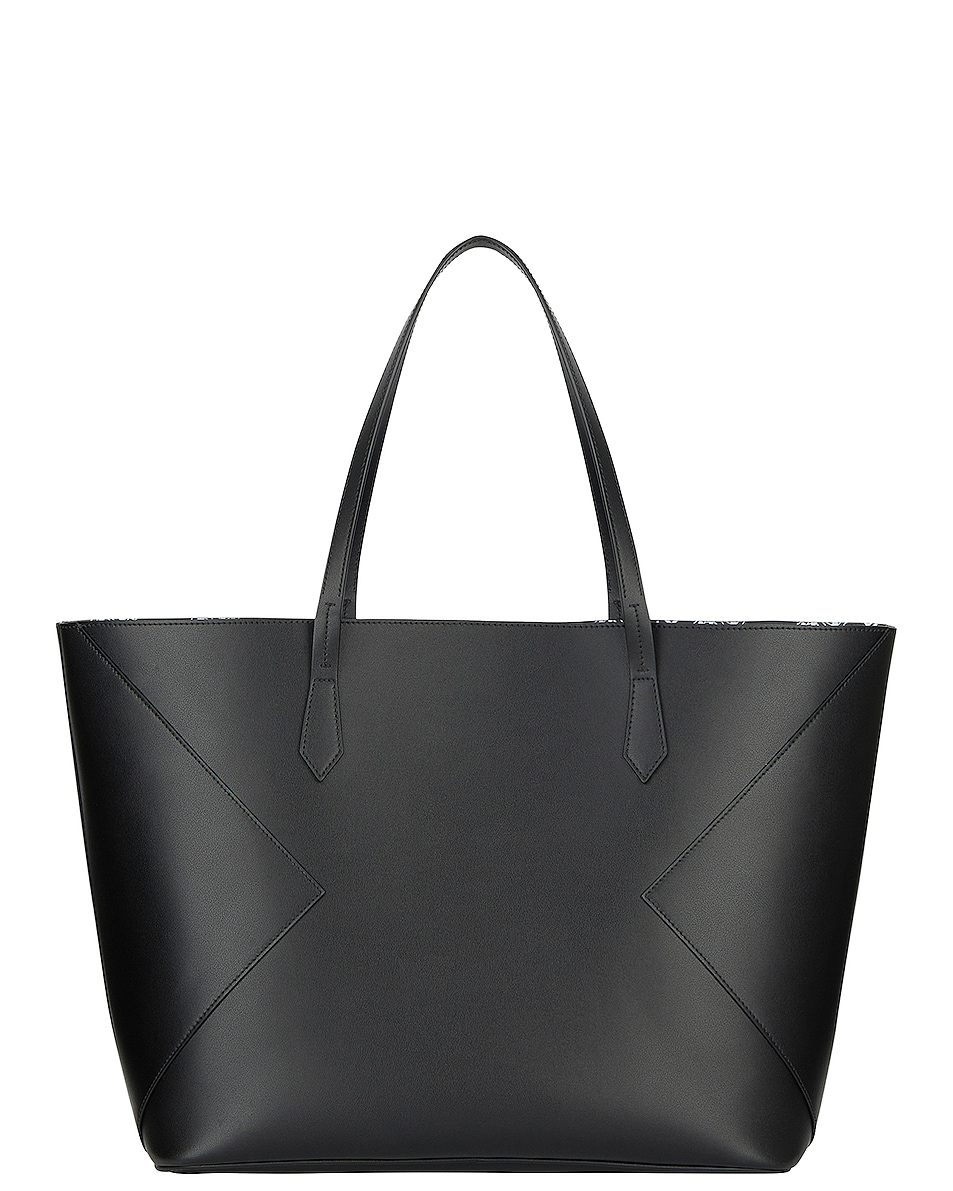 Image 4 of Givenchy Wing Shopping Bag in Black & White