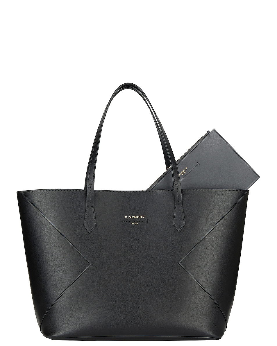 Image 6 of Givenchy Wing Shopping Bag in Black & White