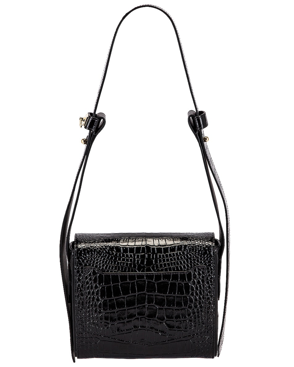 Image 3 of Givenchy Small Eden Embossed Croc Bag in Black