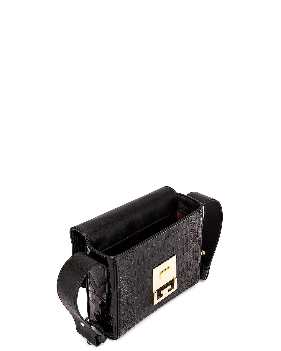 Image 5 of Givenchy Small Eden Embossed Croc Bag in Black