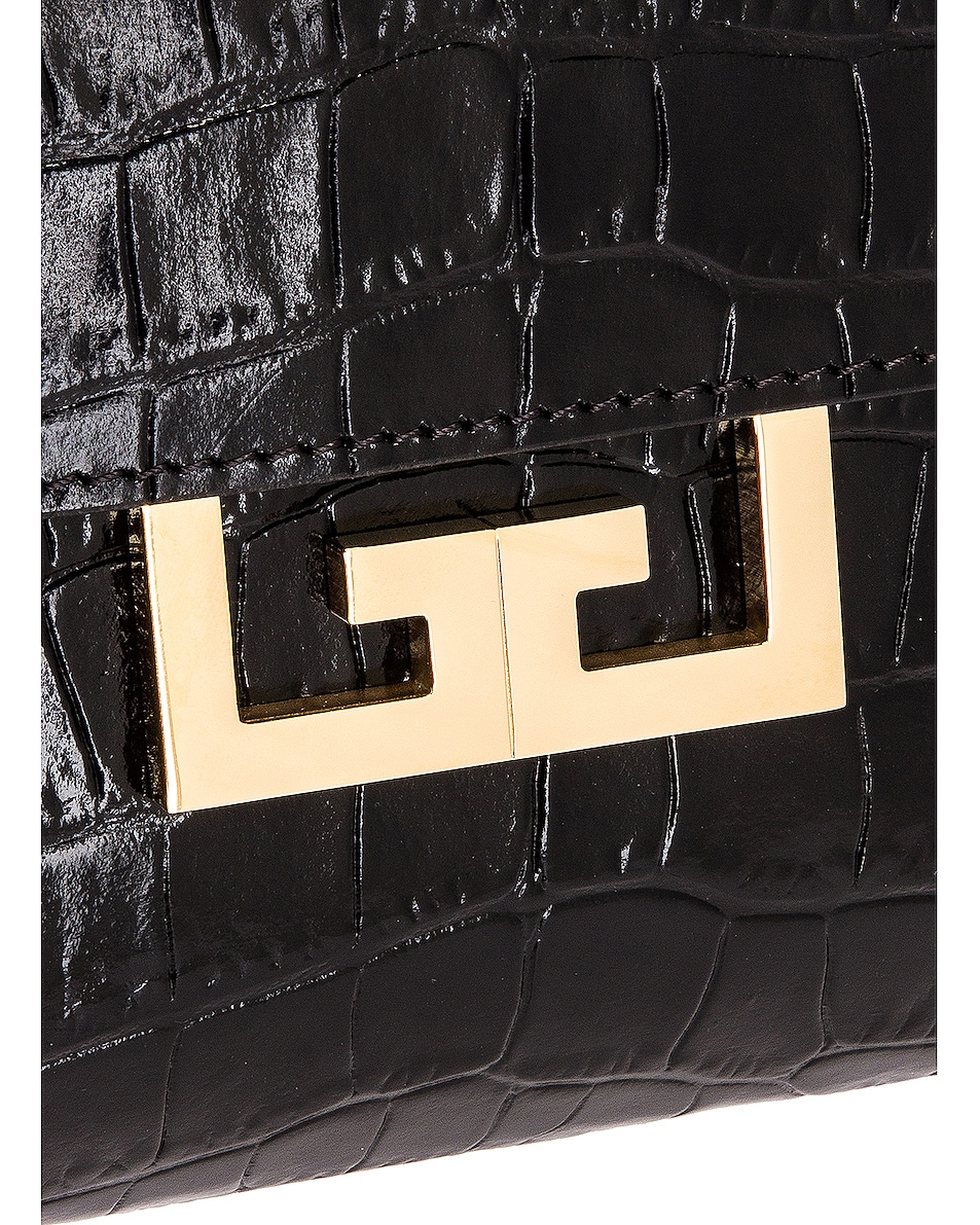 Image 8 of Givenchy Small Eden Embossed Croc Bag in Black