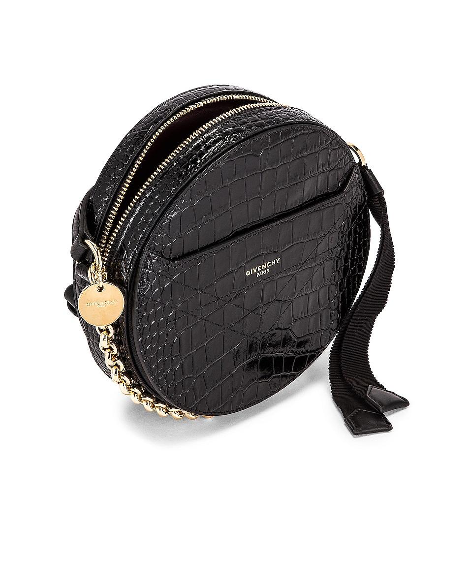 Image 5 of Givenchy Eden Embossed Croc Round Shoulder Bag in Black