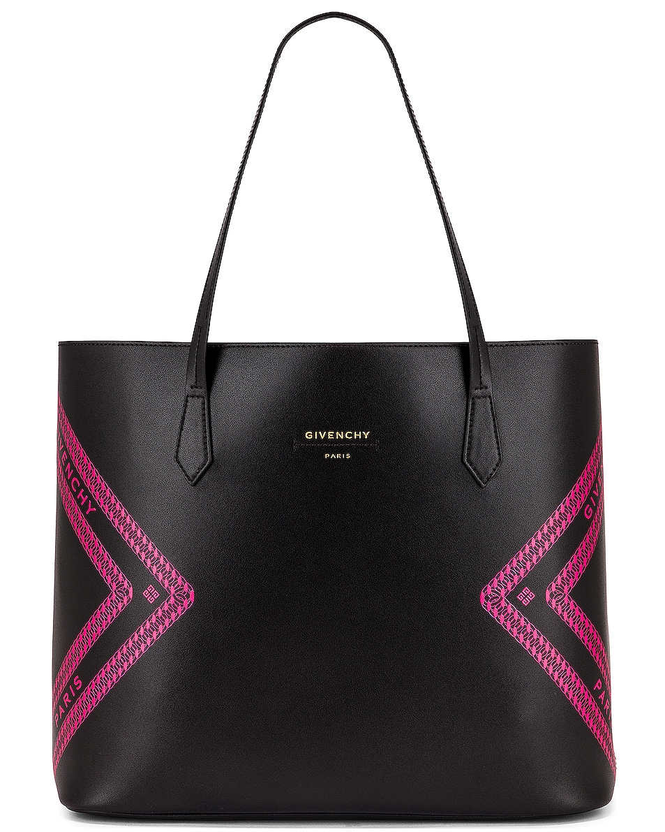 Image 1 of Givenchy Wing Shopping Bag in Black & Pink