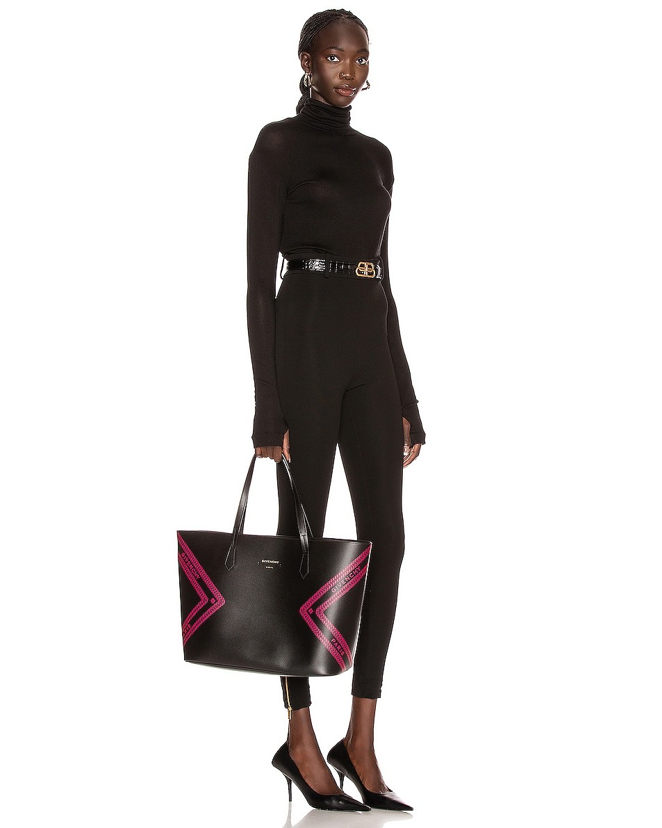 Image 2 of Givenchy Wing Shopping Bag in Black & Pink