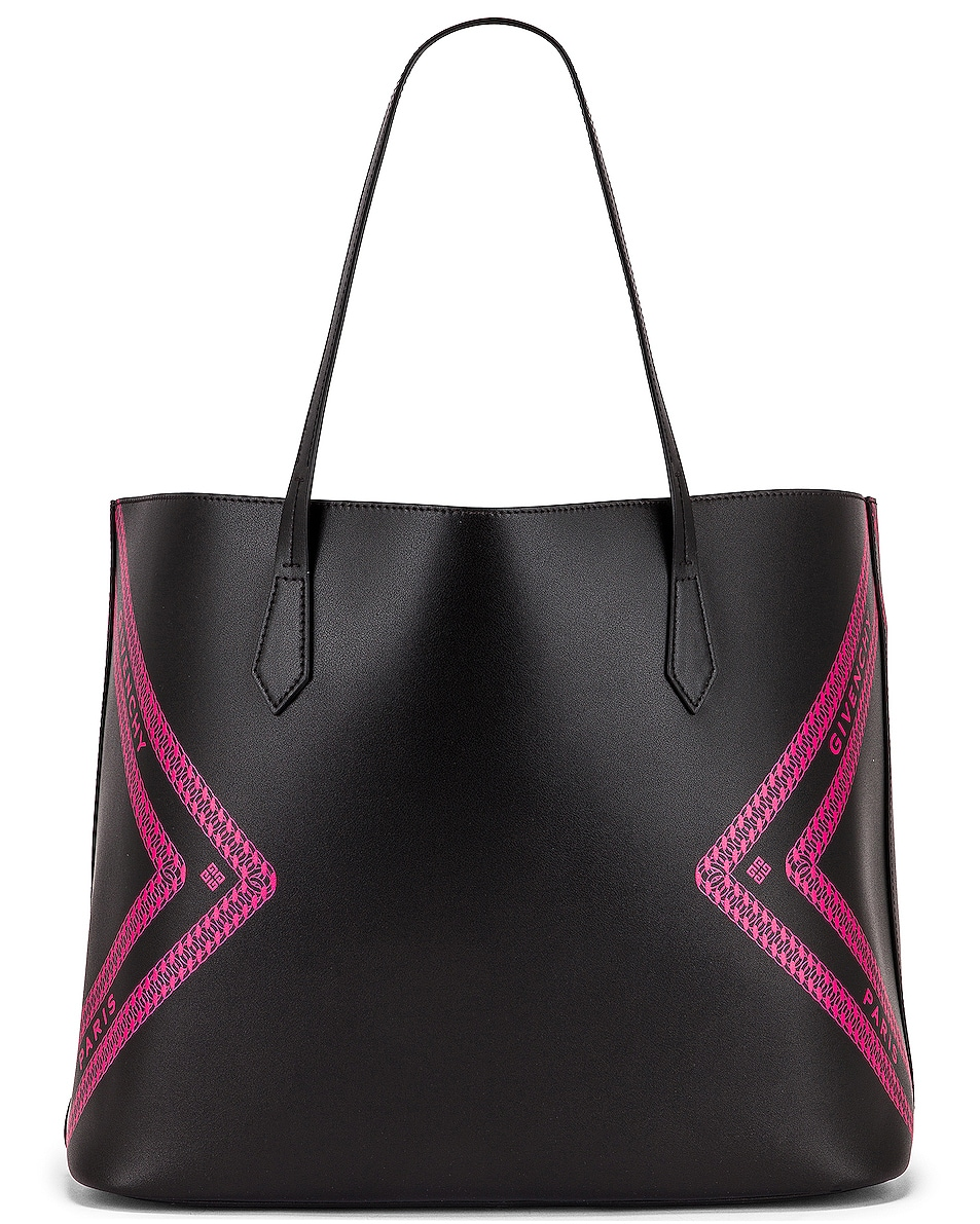 Image 3 of Givenchy Wing Shopping Bag in Black & Pink