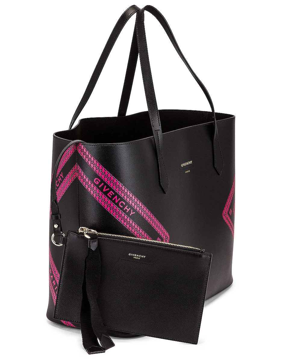 Image 4 of Givenchy Wing Shopping Bag in Black & Pink