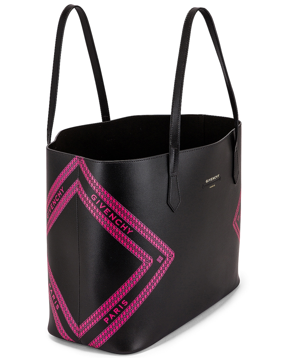 Image 5 of Givenchy Wing Shopping Bag in Black & Pink