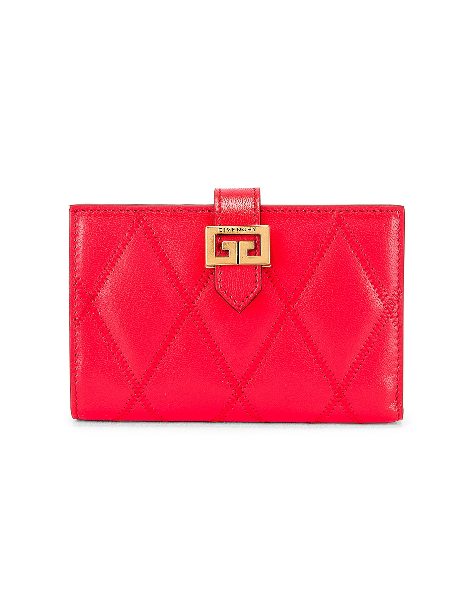 Image 1 of Givenchy Medium GV3 Bifold Wallet in Red