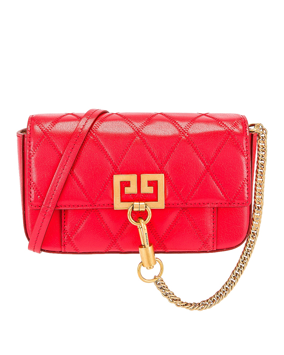 Image 1 of Givenchy Mini Pocket Chain Bag in Red