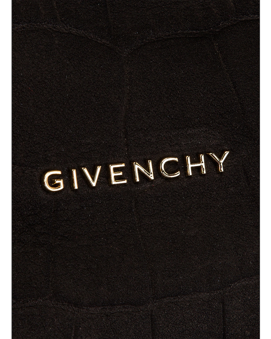 Image 6 of Givenchy Small Pandora Embossed Croc Bag in Black