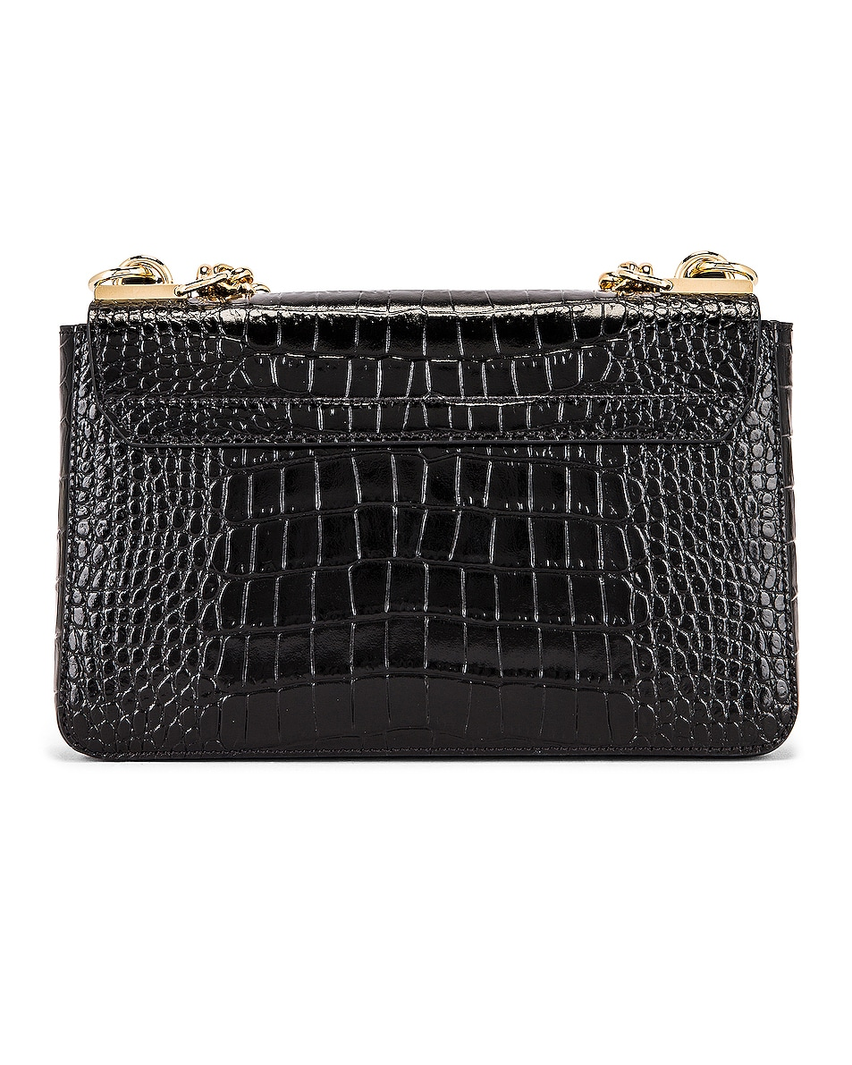 Image 3 of Givenchy Small Catena Embossed Croc Bag in Black