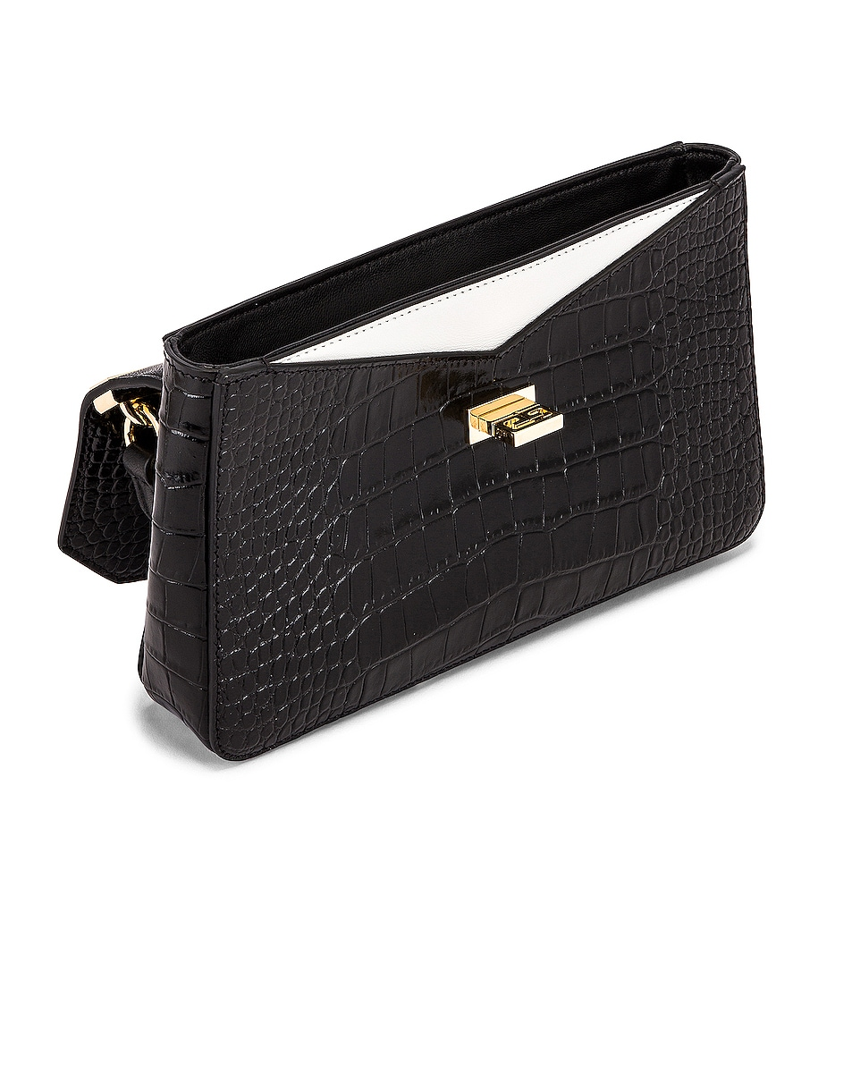 Image 5 of Givenchy Small Catena Embossed Croc Bag in Black