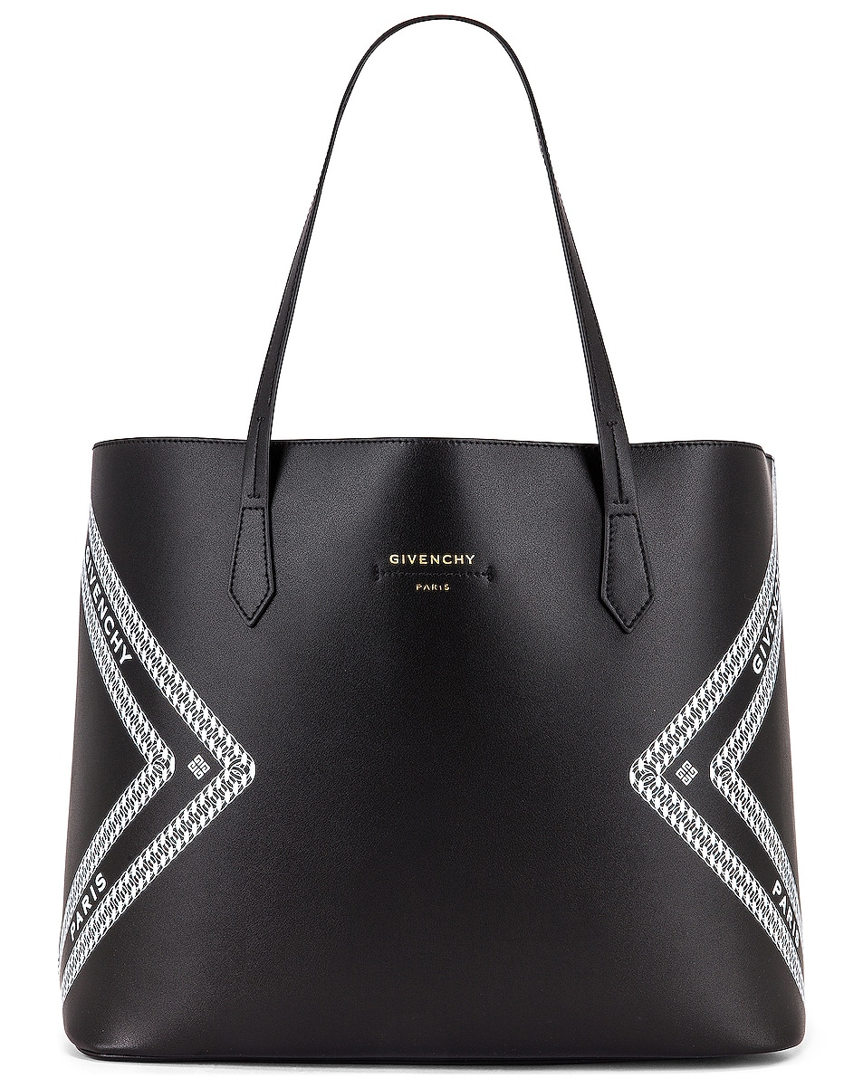 Image 1 of Givenchy Wing Shopping Bag in Black & White