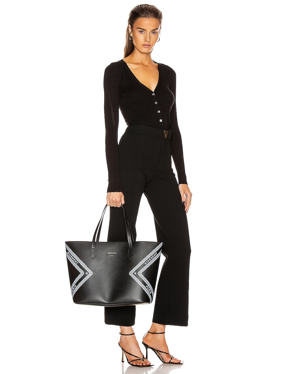 Image 2 of Givenchy Wing Shopping Bag in Black & White