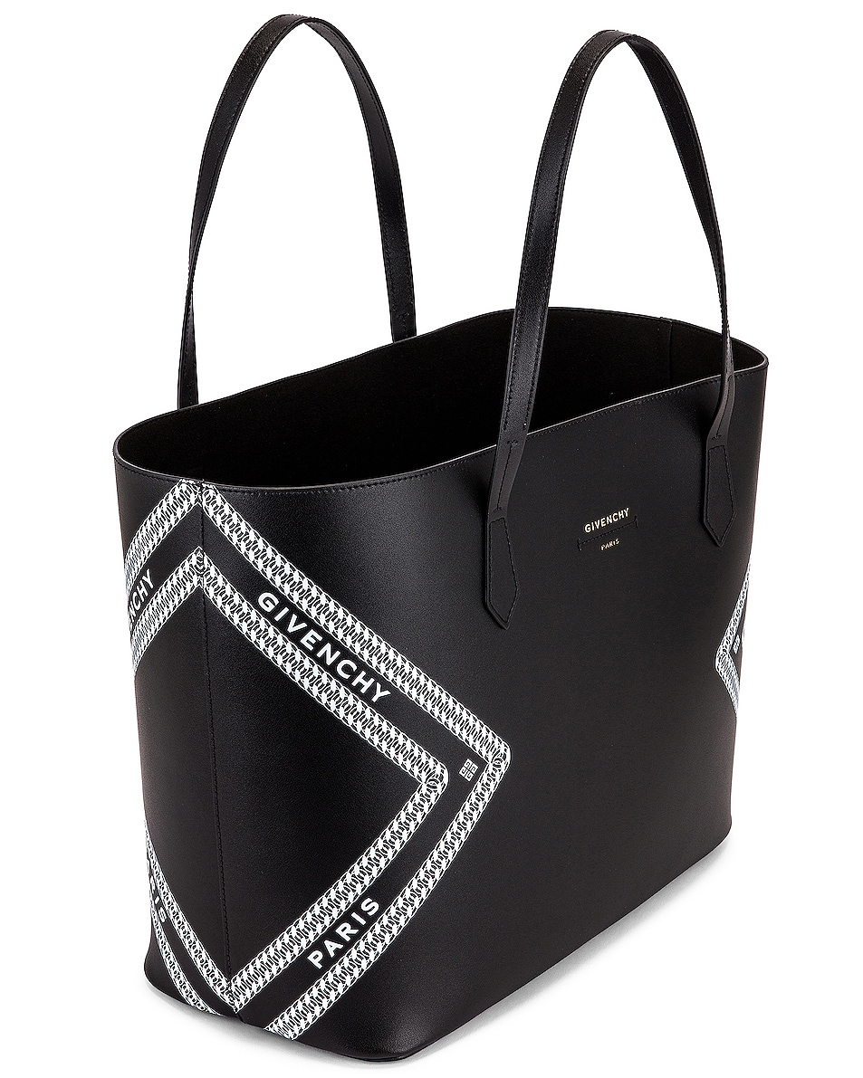 Image 5 of Givenchy Wing Shopping Bag in Black & White