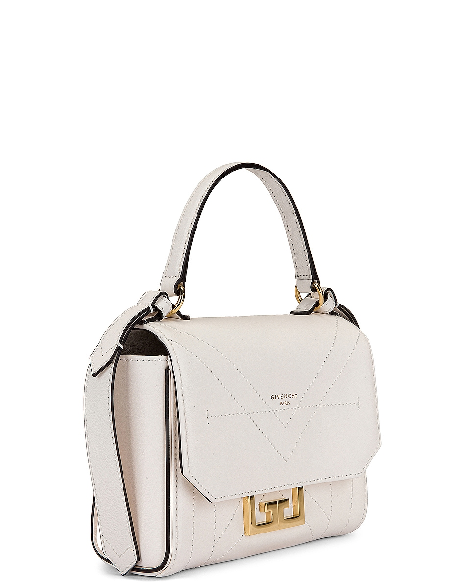 Image 4 of Givenchy Mini Eden Leather Bag in White