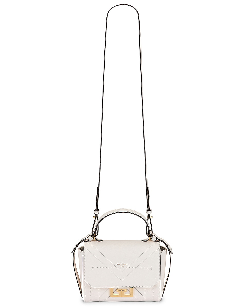 Image 6 of Givenchy Mini Eden Leather Bag in White