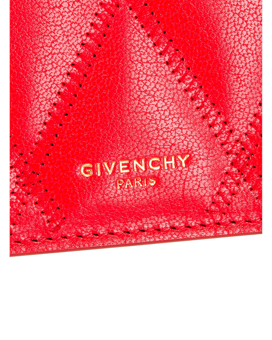 Image 8 of Givenchy GV3 Quilted Leather Strap Wallet Bag in Red