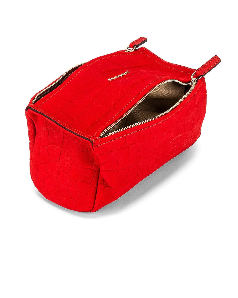Image 4 of Givenchy Mini Pandora Embossed Croc Bag in Red