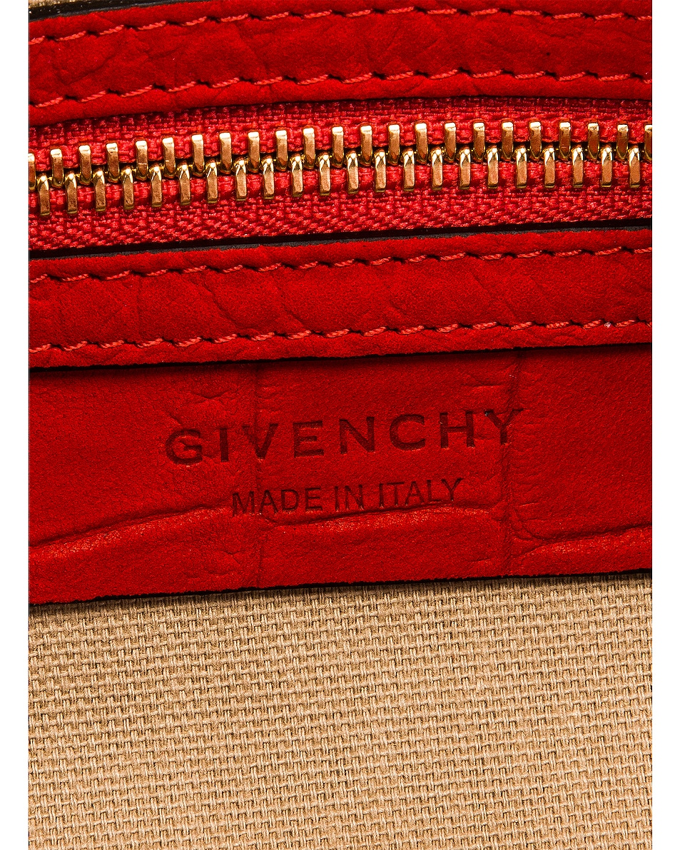 Image 5 of Givenchy Mini Pandora Embossed Croc Bag in Red