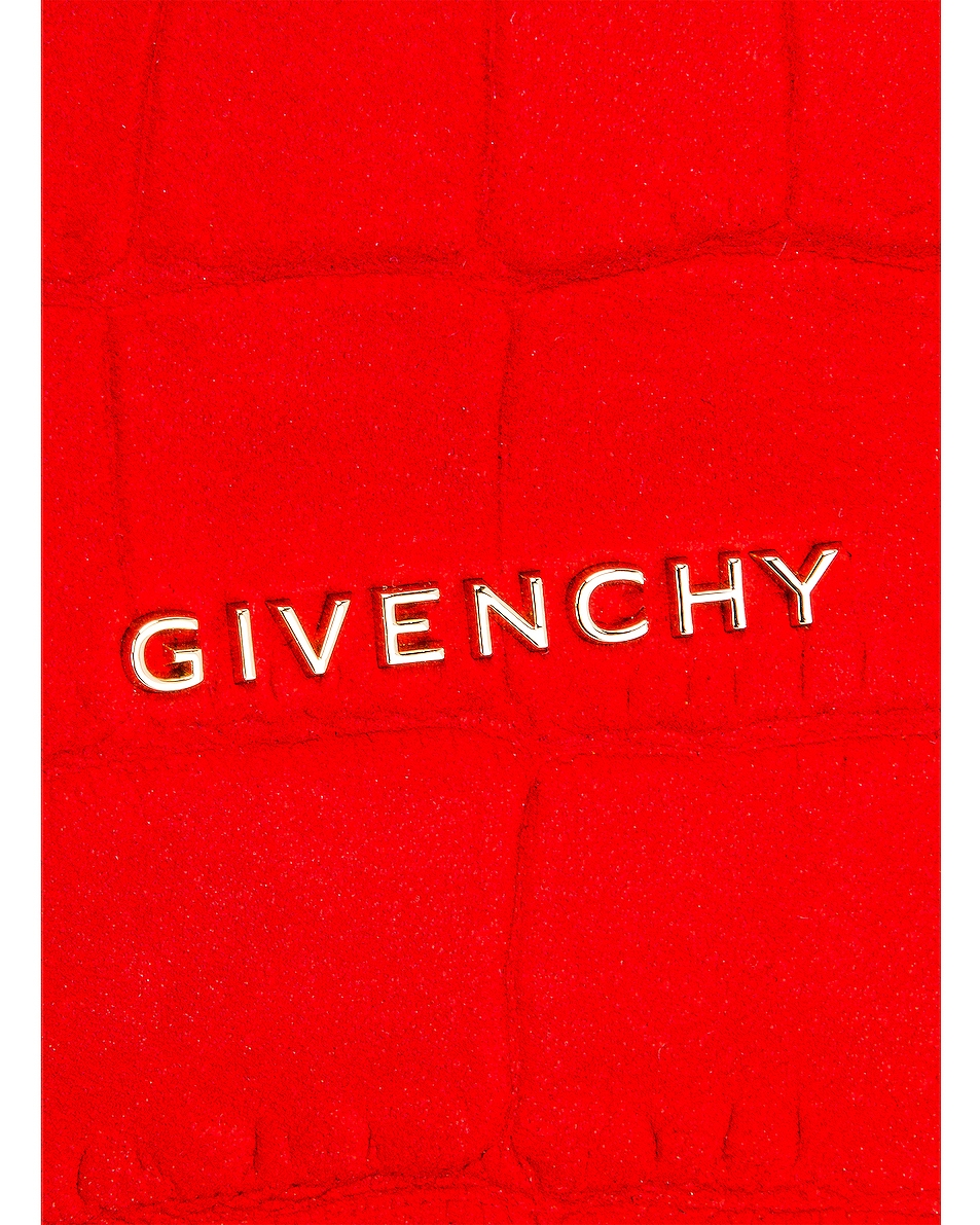 Image 6 of Givenchy Mini Pandora Embossed Croc Bag in Red