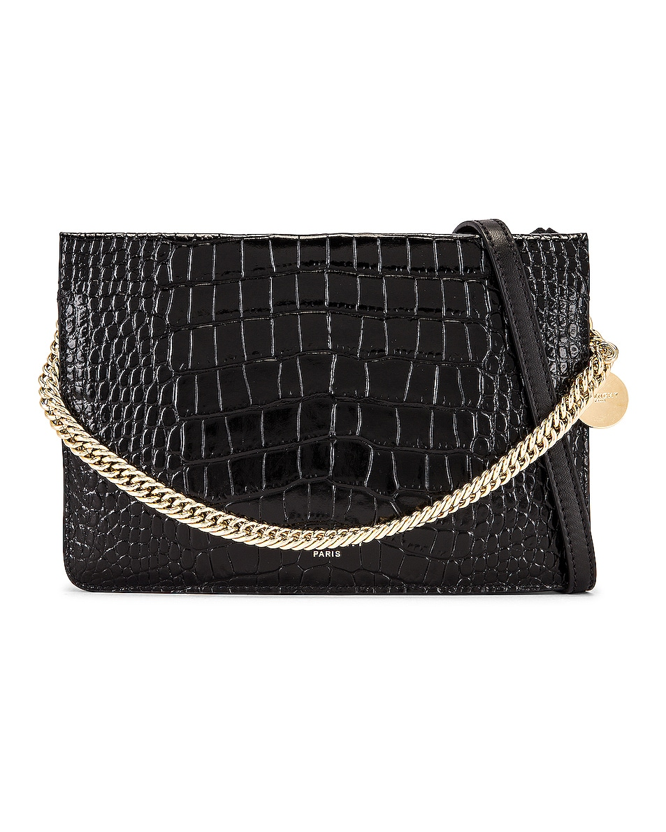 Image 1 of Givenchy Cross 3 Embossed Croc Crossbody Bag in Black