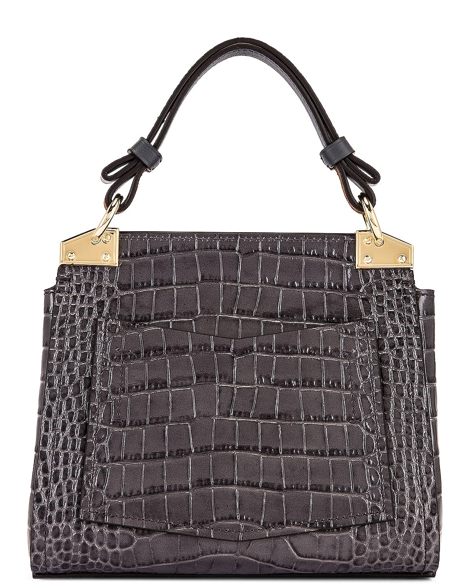 Image 3 of Givenchy Mini Mystic Embossed Croc Bag in Storm Grey
