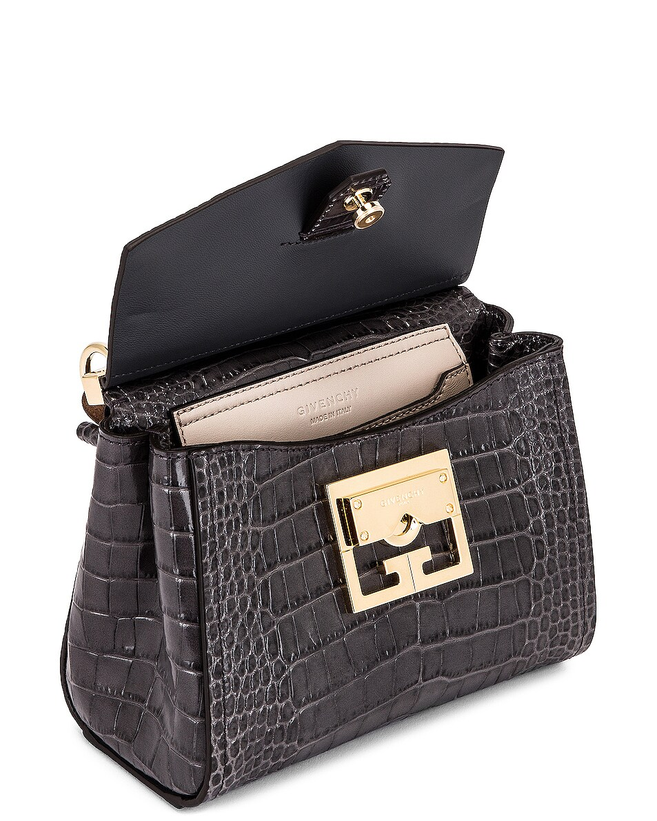 Image 5 of Givenchy Mini Mystic Embossed Croc Bag in Storm Grey