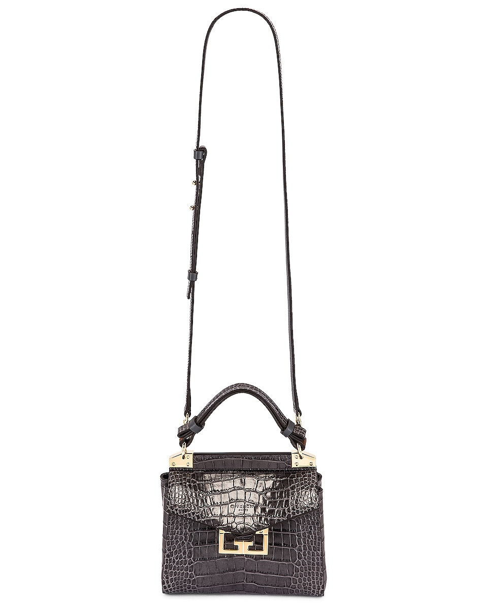 Image 6 of Givenchy Mini Mystic Embossed Croc Bag in Storm Grey