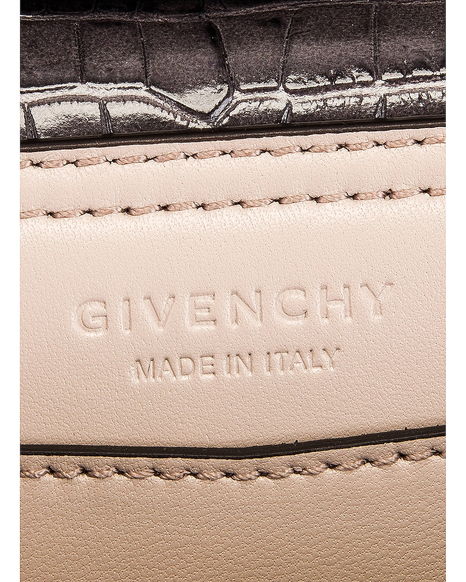Image 7 of Givenchy Mini Mystic Embossed Croc Bag in Storm Grey